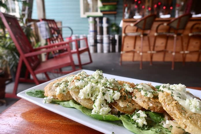 Fried Green Tomatoes at The Floridian Restaurant in St. Augustine, FL