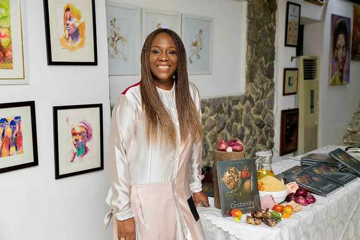 Tola Akerele at her book launch