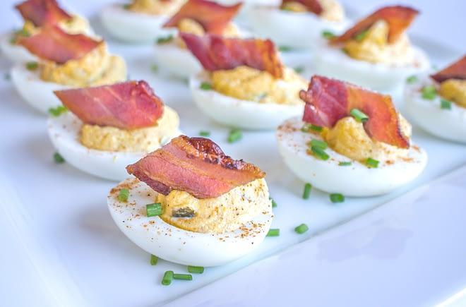 Cajun Deviled Eggs with Bacon