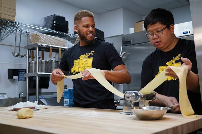 Daniel Lee and Joe Liang of Farina Pasta and Noodles