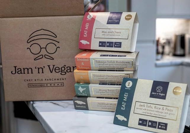Jam 'n' Vegan assortment of meals