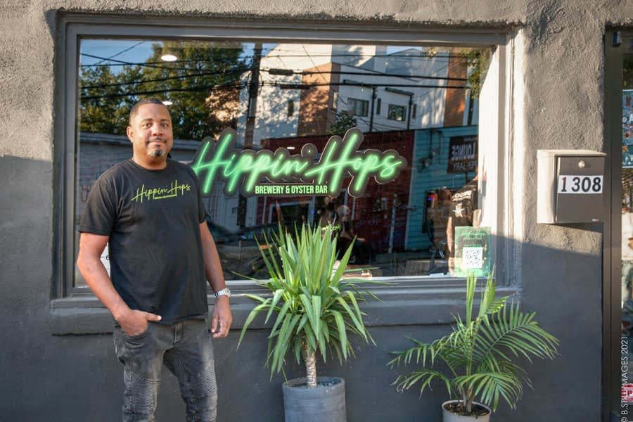 Clarence Boston, owner of Hippin Hops