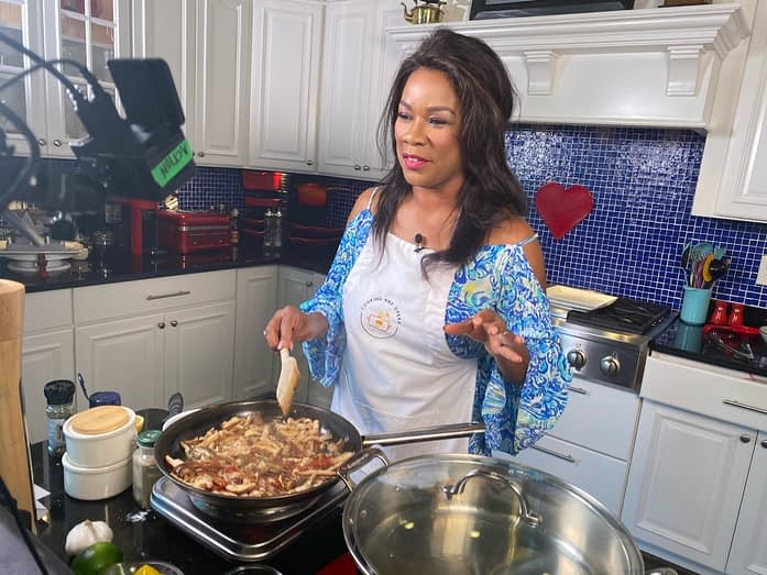 Denyce Graves Cooking on Show