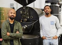 Rob Johnson and Pernell Cezar of BLK & Bold Coffee