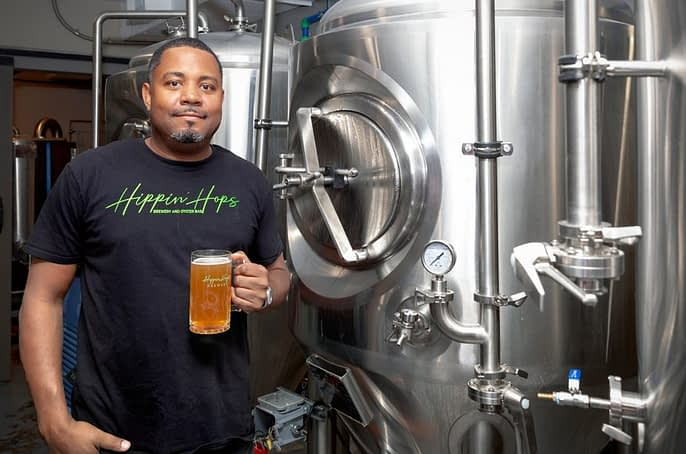 Clarence Boston, co-owner of Hippin' Hops Brewery and Oyster Bar