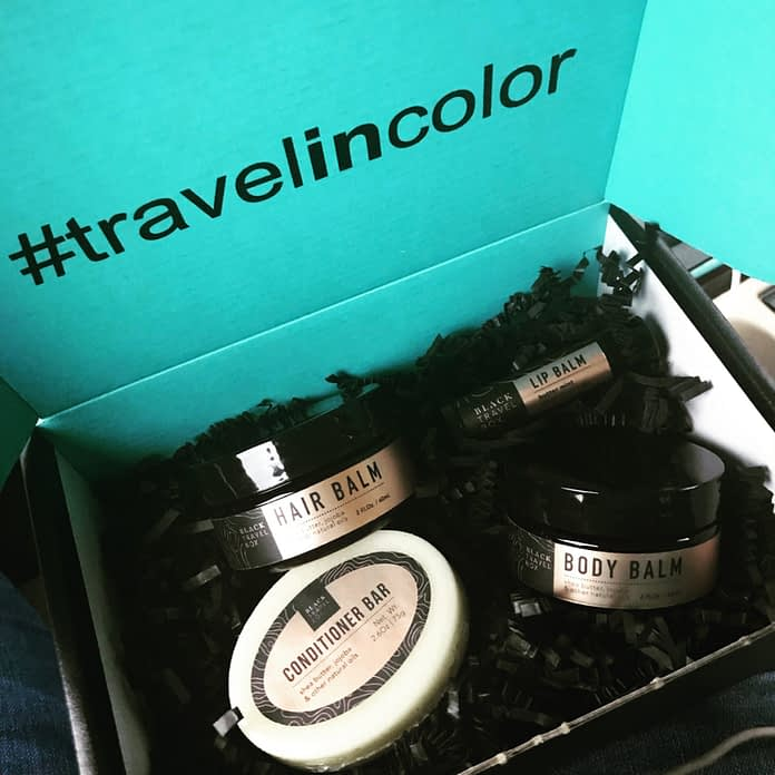 The Black Travel Box set
