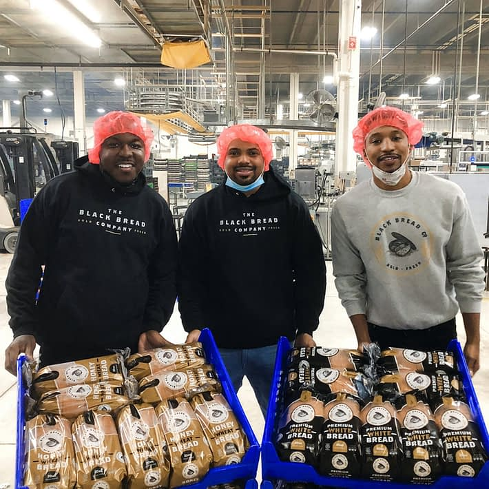 The Black Bread Company founders Jamel Lewis, Mark Edmond and Charles Alexander
