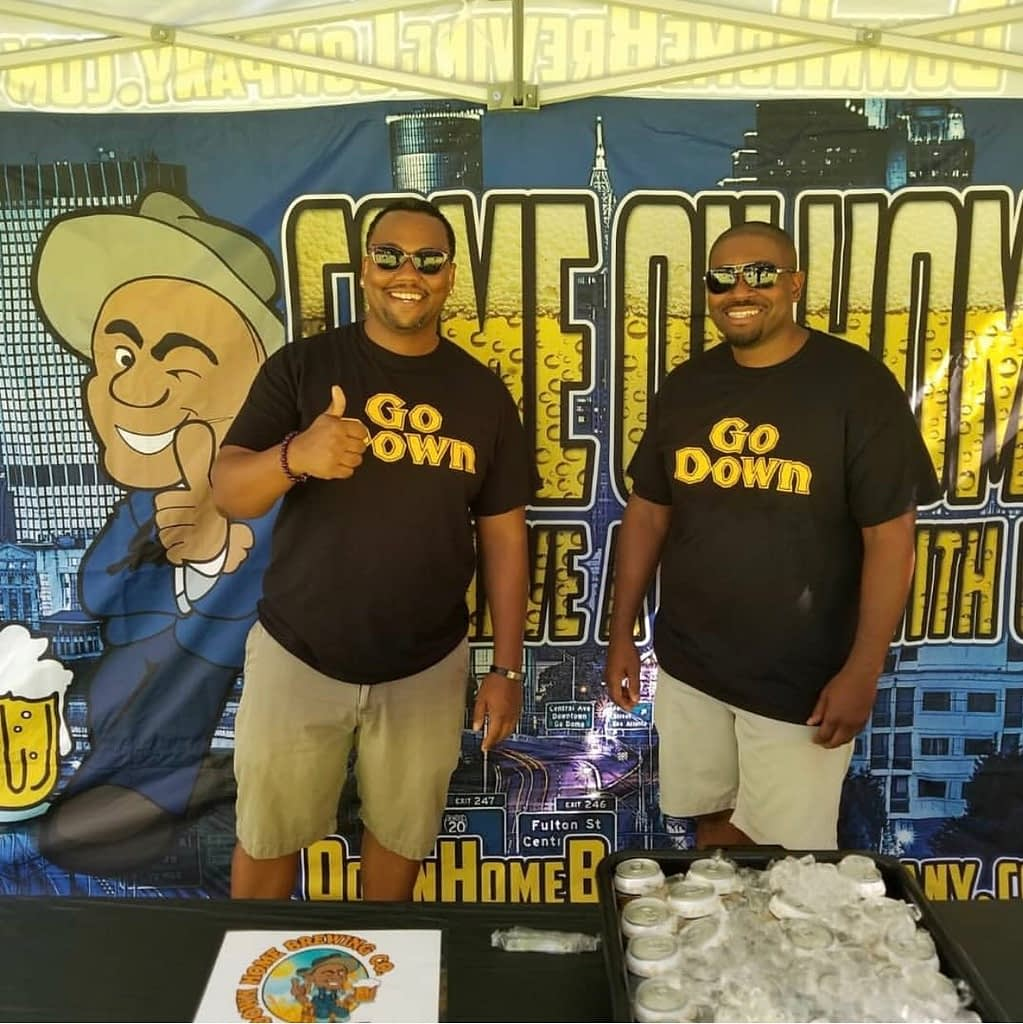 Down Home Brewing Owners Chris Reeves and William Allen Moore at a Beer Fest