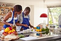 Cookery class In kitchen