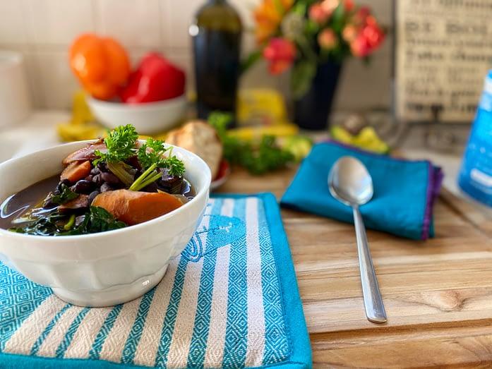 Jody Watley Black Bean Kale Carrot Soup