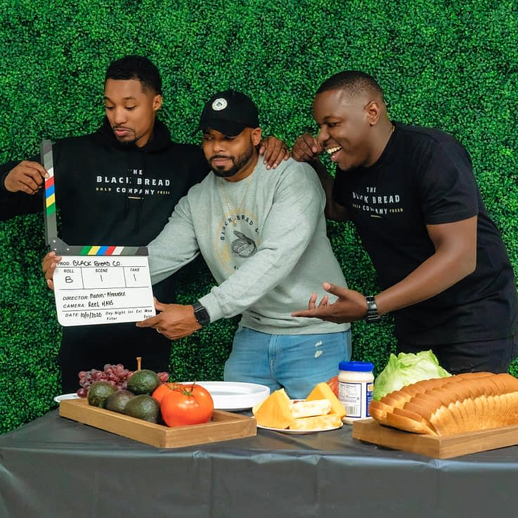 The Black Bread Company founders Charles Alexander, Mark Edmond and Jamel Lewis